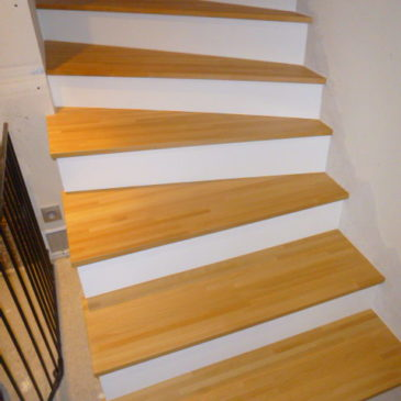 Habillage sur mesure d'un escalier