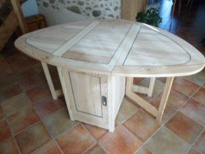 table de salon de jardin création meuble